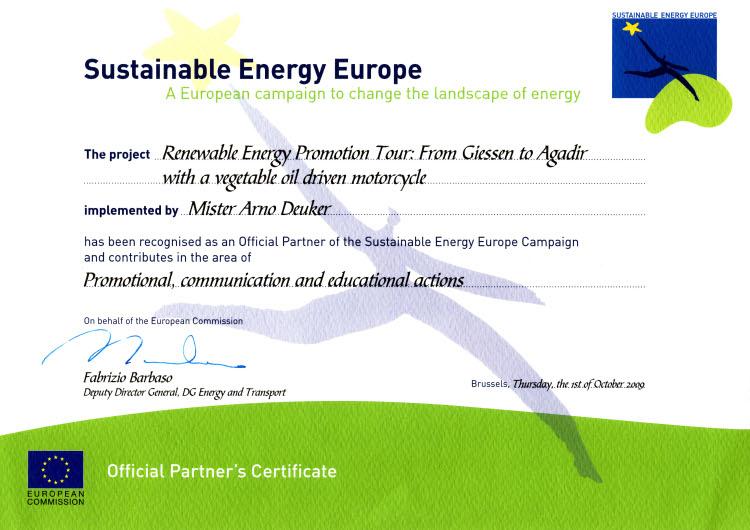 SEE-certificate